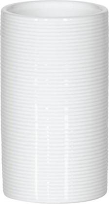 Стакан керамика, белый Spirella Tube Ribbed 1018230