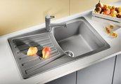 Кухонная мойка оборачиваемая с крылом, гранит, антрацит Blanco Nova 45 S 510442
