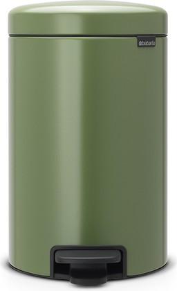 Мусорный бак с педалью 12л, зеленый мох Brabantia Newicon 113529