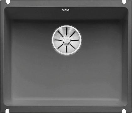 Кухонная мойка Blanco Subline 500-U PuraPlus, без крыла, отводная арматура, керамика, базальт 523739