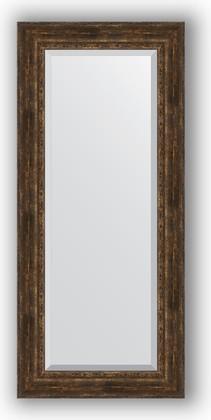 Зеркало с фацетом в багетной раме 72x162см состаренное дерево с орнаментом 120мм Evoform BY 3586