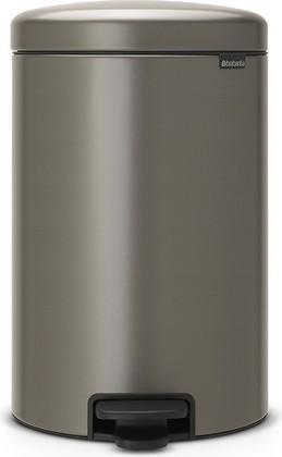 Мусорный бак с педалью 20л, платиновый Brabantia Newicon 114045
