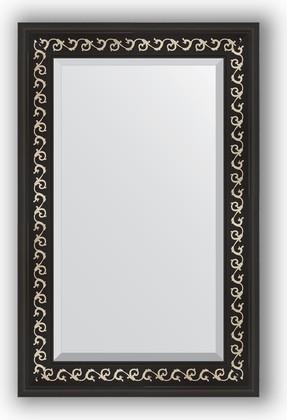 Зеркало 55x85см с фацетом 30мм в багетной раме чёрный ардеко Evoform BY 1135