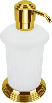 Дозатор жидкого мыла настольный, золото/матовое стекло Colombo Hermitage B9336.HPS