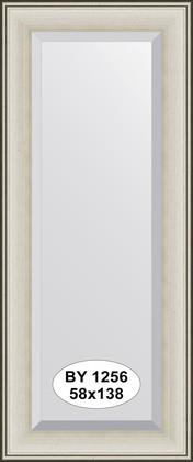 Зеркало 58x138см с фацетом 30мм в багетной раме травлёное серебро Evoform BY 1256