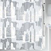 Штора для ванной Spirella Skyline, 180x200см, полиэтилен, бело-серый 1011572