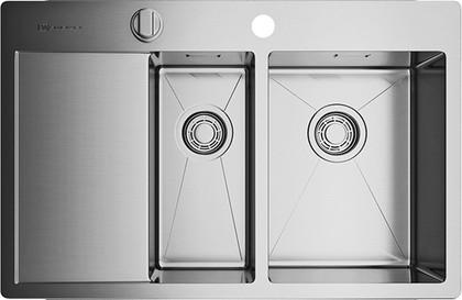 Кухонная мойка с левым крылом, нержавеющая сталь Omoikiri Kirisame 78-2-IN-R 4993063