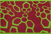 Коврик придверный 50x78см для помещения зелёные молекулы, полиамид Golze CONTZEN MATS DYNACOMBS 1700-40-003-015