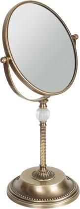 Зеркало косметическое настольное, двустороннее, бронза TW Murano TWMU BA292/OVbr