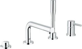 Смеситель встроенный однорычажный с ручным душем на 4 отверстия на бортик ванны без встраиваемого механизма, хром Grohe ESSENCE 19578000