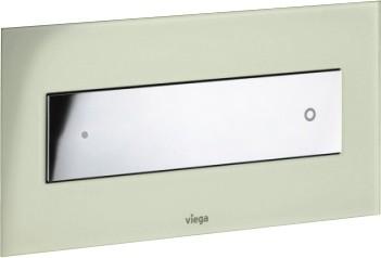 Кнопка смыва для унитаза, светло-серое прозрачное стекло и хромированная клавиша Viega Visign for Style 12 690601