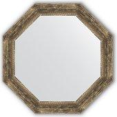 Зеркало Evoform Octagon 630x630 в багетной раме 70мм, старое дерево с плетением BY 3665