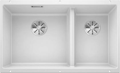 Кухонная мойка Blanco Subline 430/270-U, отводная арматура, белый 523155