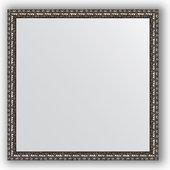 Зеркало Evoform Defenite 600x600 в багетной раме 38мм, чёрненое серебро BY 0773