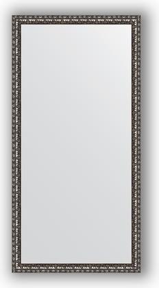 Зеркало 50x100см в багетной раме чёрное серебро Evoform BY 1048