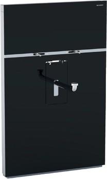 Инсталляция для установки умывальника, смеситель вертикальный, без выдвижной системы, чёрное стекло / алюминий Geberit MONOLITH 131.051.SJ.1