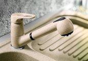 Смеситель кухонный однорычажный с выдвижным изливом, алюметаллик Blanco WEGA-S 512038