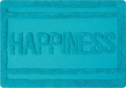Коврик для ванной комнаты хлопковый 60x90см бирюзовый Spirella Ibiza Love Happiness 1017825