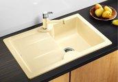 Кухонная мойка чаша справа, крыло слева, керамика, чёрный Blanco Idessa 45 S 514500