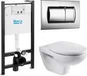 Система инсталяции с унитазом, крышкой и кнопкой Roca Victoria Pack 7.8931.0.000.0