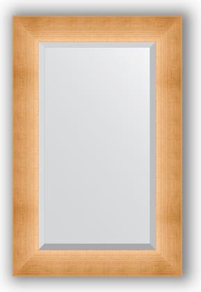 Зеркало 56x86см с фацетом 30мм в багетной раме травлёное золото Evoform BY 1141