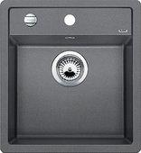 Кухонная мойка Blanco Dalago 45, без крыла, с клапаном-автоматом, гранит, алюметаллик 517157