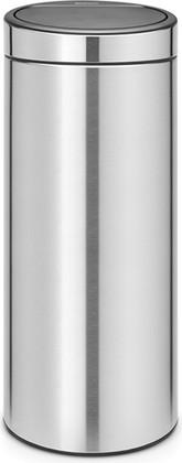 Мусорный бак Brabantia Touch Bin, 30л, с защитой от отпечатков пальцев, матовая сталь 115462