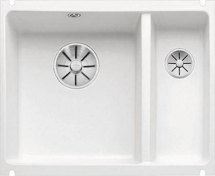 Кухонная мойка Blanco Subline 350/150-U, отводная арматура, белый 523741