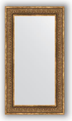 Зеркало в багетной раме 63x113см вензель бронзовый 101мм Evoform BY 3095