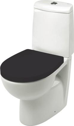 Сиденье для унитаза с крышкой и системой плавного опускания, чёрное Roca VICTORIA NORD ZRU9302627