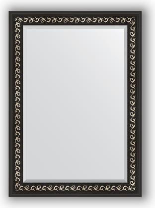 Зеркало 75x105см с фацетом 30мм в багетной раме чёрный ардеко Evoform BY 1195