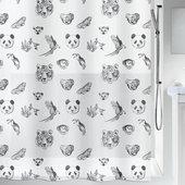 Штора для ванной Spirella Kuapa, 180x200см, политэтилен, чёрный 1019129