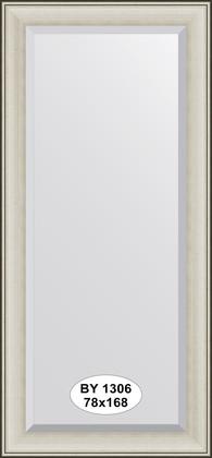 Зеркало 78x168см с фацетом 30мм в багетной раме травлёное серебро Evoform BY 1306