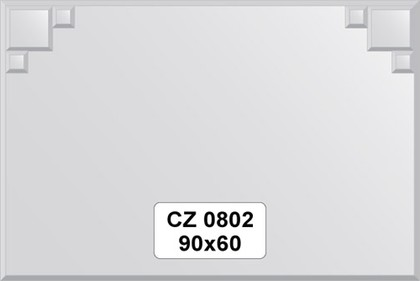 Зеркало для ванной 90x60см с фацетом и декором FBS CZ 0802