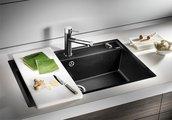 Кухонная мойка без крыла, с клапаном-автоматом, гранит, шампань Blanco Dalago 8 516635