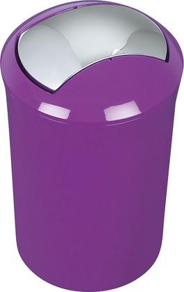Ведро для мусора 5л фиолетовое Spirella Sydney Acrylic 1014384