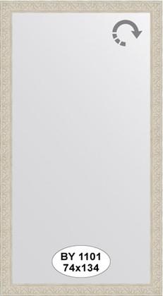 Зеркало 74x134см в багетной раме белёный дуб Evoform BY 1101