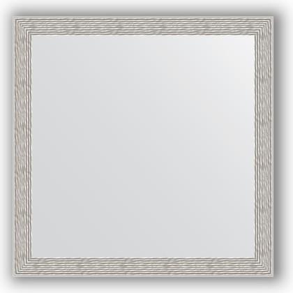 Зеркало в багетной раме 61x61см волна алюминий 46мм Evoform BY 3134