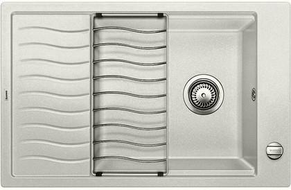 Кухонная мойка оборачиваемая с крылом, с клапаном-автоматом, гранит, жемчужный Blanco Elon XL 6 S 520548