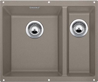 Кухонная мойка без крыла, основная чаша слева, с клапаном-автоматом, гранит, серый беж Blanco Subline 340/160-U 517430