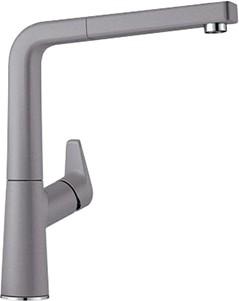 Смеситель кухонный однорычажный с высоким, выдвижным изливом, SILGRANIT алюметаллик Blanco AVONA-S 521279