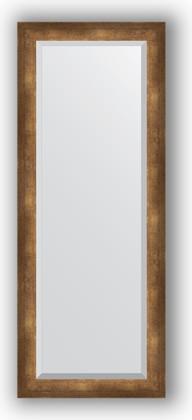 Зеркало 52x132см с фацетом 30мм в багетной раме старая бронза Evoform BY 1158