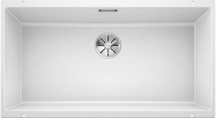 Кухонная мойка Blanco Subline 800-U, отводная арматура, белый 523145