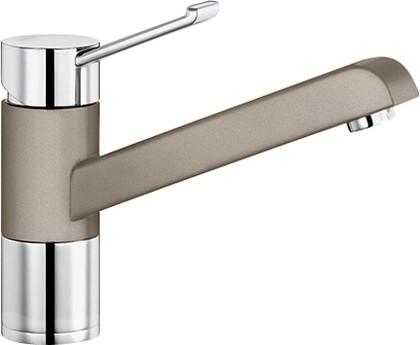 Смеситель однорычажный для кухонной мойки, хром / серый беж Blanco ZENOS 517814