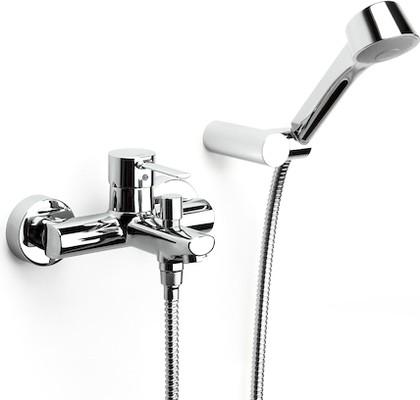 Смеситель для ванны/душа с душевым гарнитуроммм и поворотным держателем, хром Roca TARGA 5A0160C02