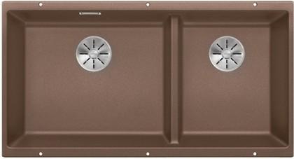 Кухонная мойка Blanco Subline 480/320-U, отводная арматура, мускат 523592