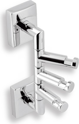 Крючок для полотенец Novaservis Metalia-12, тройной, поворотный, хром 0281.0
