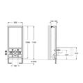 Инсталляционная система для биде 1120 х 500 х 130 мм с установочным комплектом Roca IN-WALL 890091000