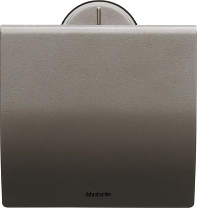 Держатель для туалетной бумаги с крышкой, платиновый Brabantia 483363
