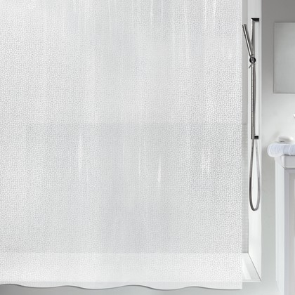Штора для ванны 180x200см белая Spirella GALET 1013028